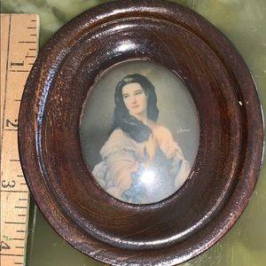 Vintage portrait with frame